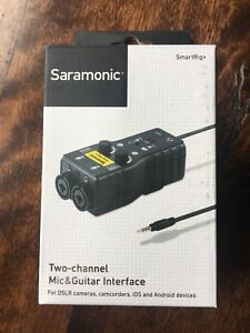 Saramonic smartrig+ 2 channel audio mixer, Preamp