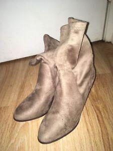 Brand new beige booties