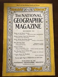 National Geographic November 1943 - excellent condition