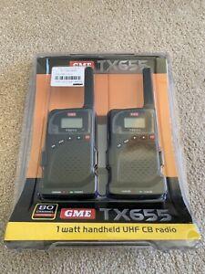 GME TX655 1 Watt UHF CB Handheld Radio - Twin Pack Brand New Perth Perth City Area Preview