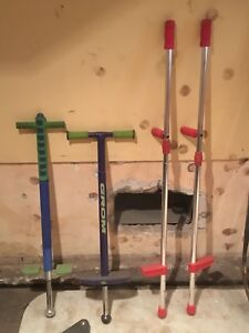Pogo sticks and Stilts