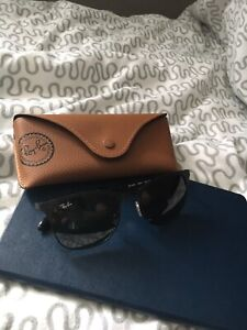 Matte black Ray-Ban Clubmasters with G15 lenses