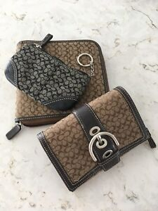 Coach wallet, coin purse and CD holder.