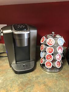 Keurig hot/iced machine and coffee pods with stand
