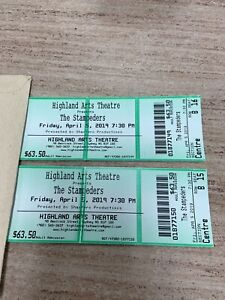 Stampeders Tickets (2) Tonight at Highland Arts Theatre