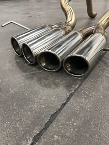 C7 Corvette  C7 Corvette Straight Pipes Exhaust Chrome Tips
