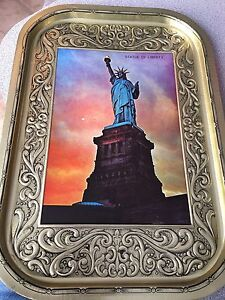Statue of Liberty tin serving tray
