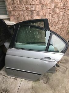 BMW e46 3 SERIES 4 DR SEDAN LEFT DRIVER REAR DOOR