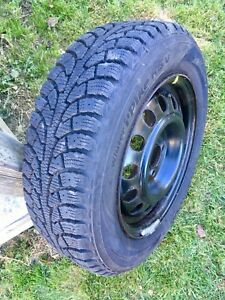 Hankook Pike Winter Tires 185/65/R14 on Rims. Only Used 1 Season