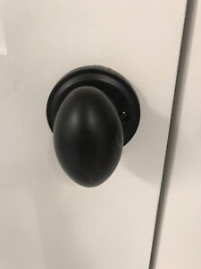 A house worth of Baldwin black knobs/egg shaped & hinges