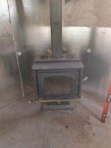 Foyer à bois (combustion Lent )& cheminée