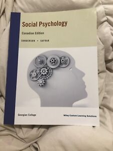 Social Psychology Georgian College Textbook