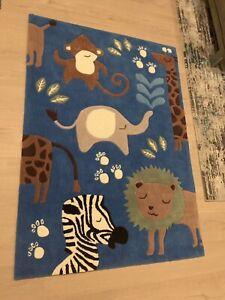 Beautiful Acrylic Plush Kids Rug Wild Animals Rugs