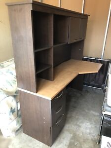 NEED GONE!! Corner Computer desk with Hutch