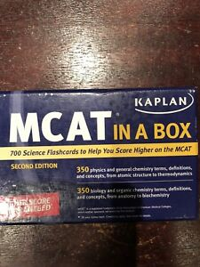Complete 7 Book Kaplan MCAT Prep Materials PLUS MCAT In A Box
