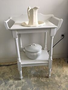 Antique commode and accessories