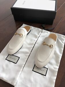 Authentic Gucci White Horsebit Loafer
