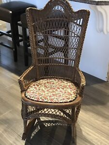 Youths wicker rocking chair