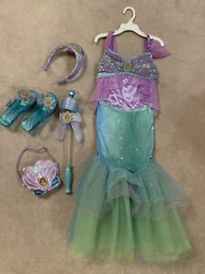 Disney Ariel Costume Set in Great Condition (Kids Size S - 5/6)