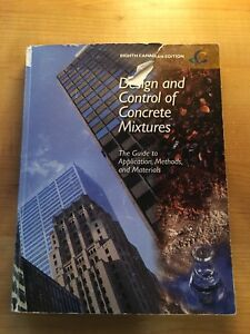 Design and Control of Concrete Mixtures Textbook