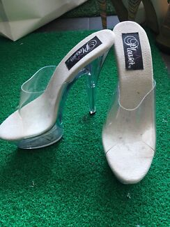 Clear acrylic pole dancing/exercise platform heels- brand new-size 7