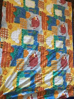 Hand made cot quilt cover & single bed quilt cover.