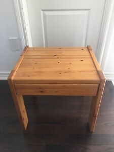 Ikea pine side table