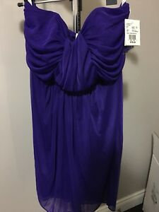 Short strapless dress size 14