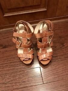 Escarpins Coach heels sandals 38 sandales nude brown beige brun