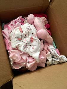 Lot 51 items for nb-3 mos baby girl clothes