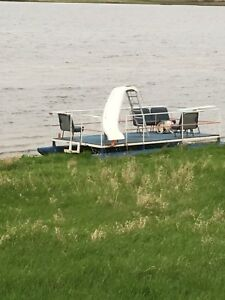 Party barge water slide diving board