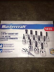 Mastercraft 3/8 bit socket set