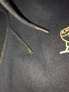OVO TERRY CLOTH ZIP UP HOODIE (Gold)