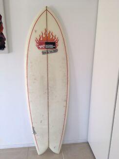 """Parkes surfboard wood fins 6'0""""x22""""x2 5/8"""""""
