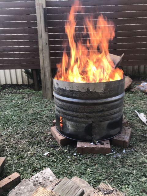 Mini Burn Barrel Half 44 Gallon Drum Fire Pit Bbq Gumtree Australia Parramatta Area Wentworthville 1252788088
