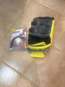 Puppy life jacket and food control ball brand new!