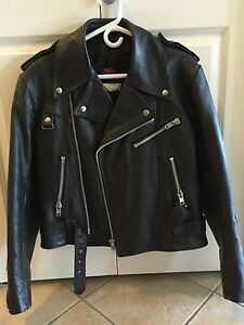 Classic Motorcycle Leather Jacket! Canadian Made!