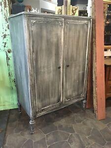 Ornate Antique refinished wardrobe $700