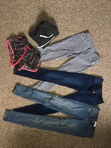BRAND NEW JEANS AND OTHER PANTS NEVER EVER WORN! GARAGE, etc