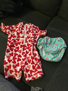 Swim suit and reusable swim diaper