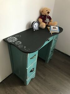 Distressed chalkboard desk