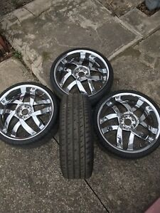20 inch I had it on my Mercedes Benz CLS 500