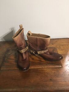 Handmade leather cowboy boots