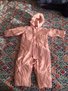 GAP goose down baby girl snowsuit 18-24
