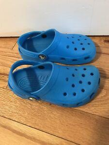 Blue crocs size 10/11