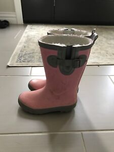 Girls lined rubber boots - size 13
