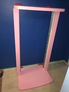 Pink red IKEA bed mammut