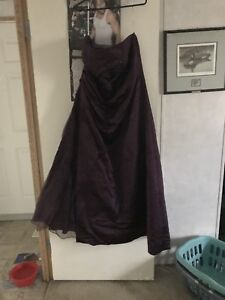 Plum colour gown