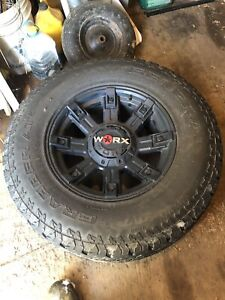 "4 17"" worx rims and tires"