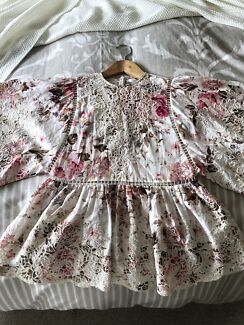 Zimmermann Eden Floral Embroidery Top Sz 0